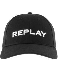 Replay Logo Baseball Cap - Black