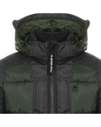 G-Star RAW - Hooded Whistler Bomber Jacket Green - Lyst