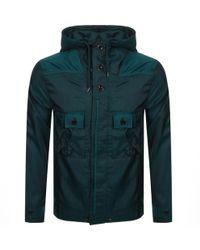 Pretty Green - Iridescent Hooded Jacket Green - Lyst