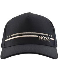 BOSS Athleisure - Boss Green Baseball Stripe Cap Navy - Lyst
