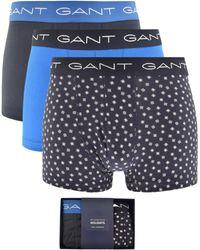 GANT - Gift Set Underwear Three Pack Stretch Trunks - Lyst