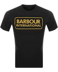 Barbour Large Logo T Shirt - Black