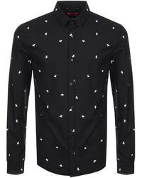 HUGO - By Boss Ero3 Shirt Black - Lyst