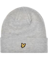 043775ca478 Lyst - Lyle   Scott Stussy Classic Retro Star Bobble Hat in Gray for Men