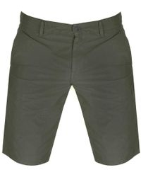 BOSS by Hugo Boss - Boss Orange Schino Slim Shorts Khaki - Lyst