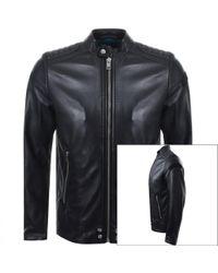 DIESEL L Shiro Leather Jacket Black