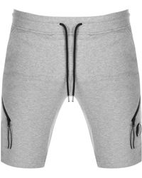 C.P. Company Cp Company Goggle Sweat Shorts - Grey