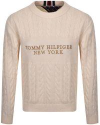 Tommy Hilfiger Cable Knit Jumper - Natural