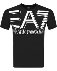 EA7 Emporio Armani Crew Neck Logo T Shirt - Black