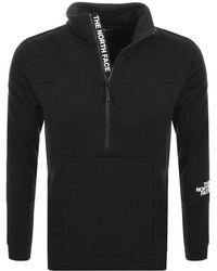 The North Face Lht Half Zip Sweatshirt Black