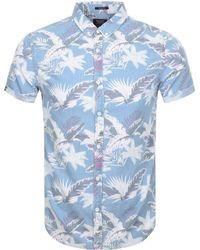 Superdry - Miami Loom Shirt Blue - Lyst