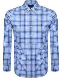 Ralph Lauren Slim Fit Poplin Shirt - Blue