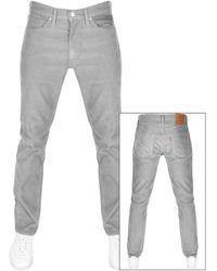 Levi's 511 Corduroy Slim Fit Jeans - Grey