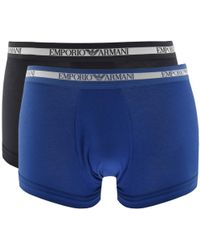 Armani - Emporio Underwear 2 Pack Trunks Navy - Lyst