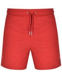 Luke 1977 Great Gold Lion Swim Shorts - Red