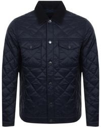 Barbour - Pardarn Quilted Jacket Navy - Lyst