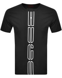 HUGO Darlon Crew Neck Short Sleeve T Shirt - Black