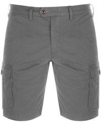 Ted Baker Cotton Cargo Shorts - Gray
