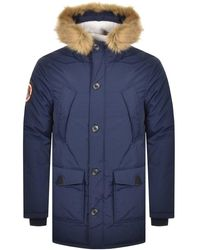 Superdry Everest Parka Jacket - Blue