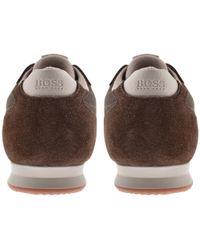 BOSS by Hugo Boss - Boss Orange Orland Lowp Trainers Brown - Lyst