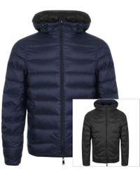 Armani - Emporio Reversible Down Jacket Navy - Lyst