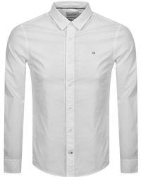 Calvin Klein Poplin Long Sleeved Shirt - White