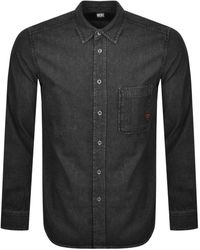 DIESEL Billy Long Sleeved Shirt - Black
