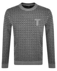 Ted Baker Sprin Knit Jumper - Grey