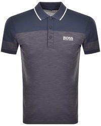 BOSS Athleisure Paddy Pro 2 Polo T Shirt - Blue