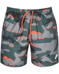 Nike Nsw Camo Shorts Woven - Green