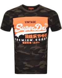 Superdry Camouflage Short Sleeved T Shirt - Green