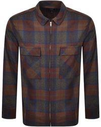 Edwin Radar Wool Long Sleeved Shirt - Brown