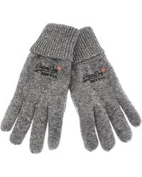Superdry Orange Label Basic Gloves Gray
