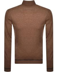 Ted Baker Exarno Roll Neck Knit Jumper - Brown