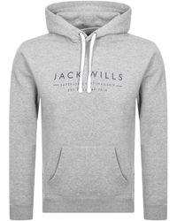 Jack Wills Batsford Popover Hoodie - Gray