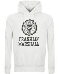 Franklin & Marshall - Logo Hoodie Cream - Lyst