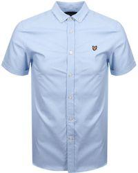 Lyle & Scott Lyle And Scott Short Sleeved Oxford Shirt Blue
