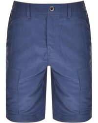 Pretty Green Cargo Shorts - Blue
