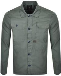 G-Star RAW Raw Multi Pocket Long Sleeved Shirt - Green