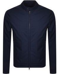 Michael Kors Nylon Racer Jacket - Blue