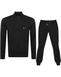 Armani Emporio Lightweight Lounge Set - Black