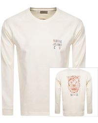 Nudie Jeans Jeans Bodie Long Sleeved T Shirt - Natural