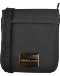 Versace Jeans - Logo Shoulder Bag Black - Lyst