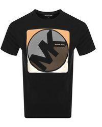 Michael Kors Mini Dot Logo T Shirt - Black