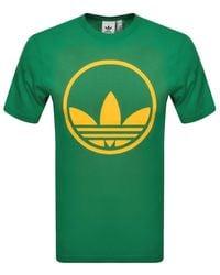 adidas Originals Circle Trefoil T Shirt - Green