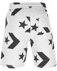 db6c1344397b Converse Checked Knee Length Cargo Shorts Gunmetal Multi in Gray for ...