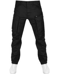 Raw Rovic Tapered Trousers Black.