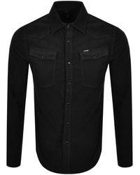 G-Star RAW Raw 3301 Slim Long Sleeve Shirt - Black
