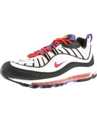 Nike Black And White Air Max 98 Sneakers