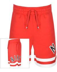 baf69c877251f1 Nike Air Fleece Shorts in Red for Men - Lyst
